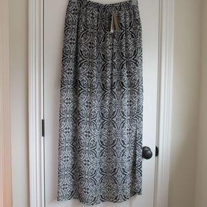 Francesca's Flowy Maxi Skirt
